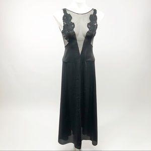Vintage black lace lingerie 70's 80's Negligee